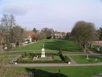 Trowbridge Park looking towards the War Memorial